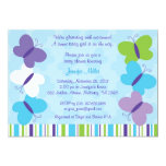 Bright Butterfly Baby Shower Invitation