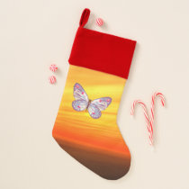 Bright Butterfly Christmas Stocking