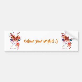 Bright butterfly collection with splashes bumper sticker