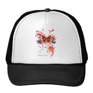 Bright butterfly collection with splashes trucker hat