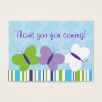 Bright Butterfly Goodie Bag Tags Gift Tags