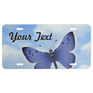 Bright Butterfly License Plate