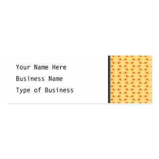 Bright Butterfly Pattern in Yellow and Red. Double-Sided Mini Business Cards (Pack Of 20)