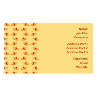 Bright Butterfly Pattern in Yellow and Red. Double-Sided Standard Business Cards (Pack Of 100)