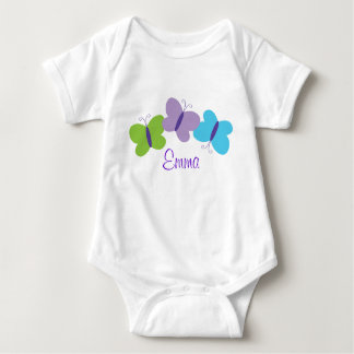 Bright Butterfly Personalized Baby T-Shirt