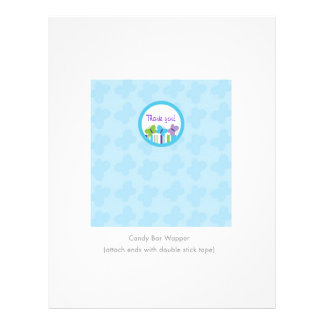 Bright Butterfly Personalized Candy Bar Wrappers Flyer