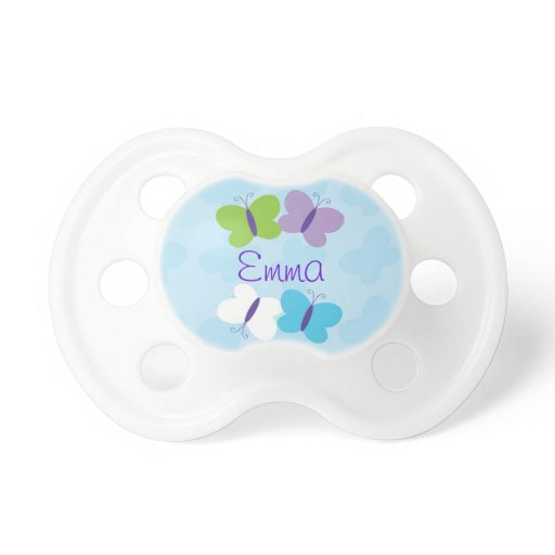Bright Butterfly Personalized Pacifier