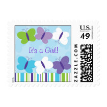 Bright Butterfly Personalized Postage Stamps