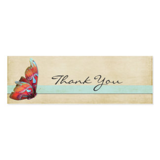 Bright Butterfly Thank You Note Business Cards