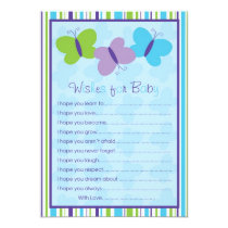 Bright Butterfly Wishes for Baby Advice Cards
