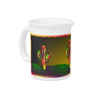 Bright Cactus Drink Pitcher