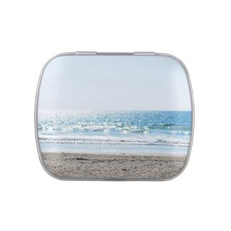 Bright California Beach - Blue Ocean Jelly Belly Candy Tins
