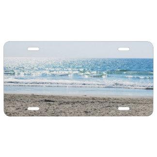 Bright California Beach - Blue Ocean License Plate