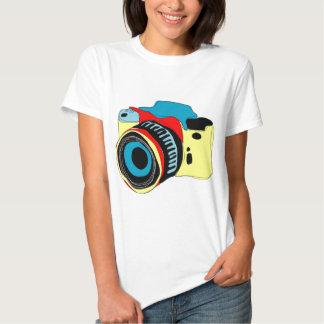 Bright camera illustration tee shirt