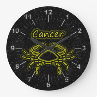 Bright Cancer Large Clock