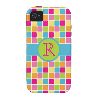Bright Candy Carnival Squares Personalized Case-Mate iPhone 4 Cover