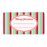 Bright Candy Christmas Kitchen Labels