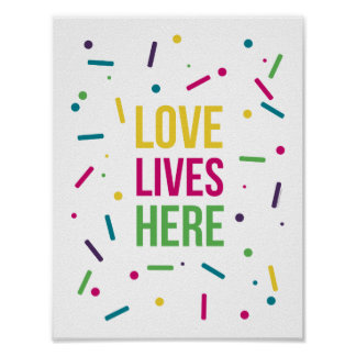Bright Candy Love Lives Here Poster