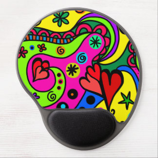 """Bright Cartoon Pattern"" Gel Mouse Pad"