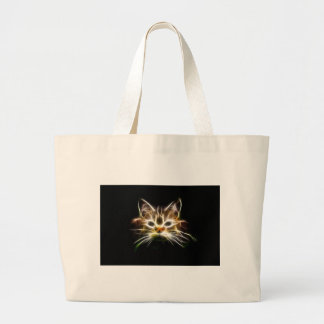 Bright cat large tote bag