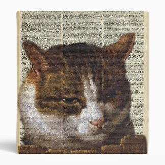 Bright Cat look over a fence 3 Ring Binder