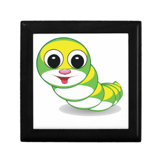 bright caterpillar worm gift box