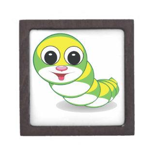 bright caterpillar worm jewelry box