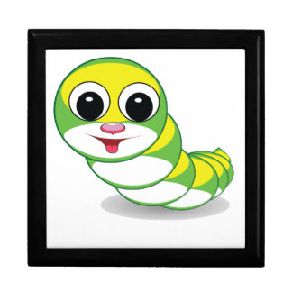 bright caterpillar worm keepsake box
