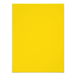 Bright Caution Yellow Color Trend Blank Template Art Photo