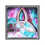 Bright Celtic floral triquetra Canvas Print