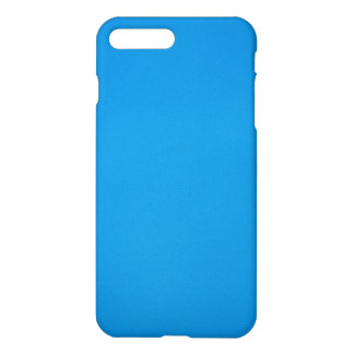 Bright Cerulean Blue with Grainy Texture iPhone 7 Plus Case