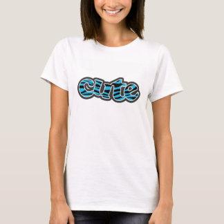 Bright Cerulean Zebra Animal Print T-Shirt