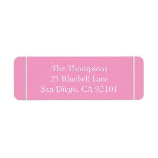 Bright Chalky Pastel Magenta Wedding Invite Set Label