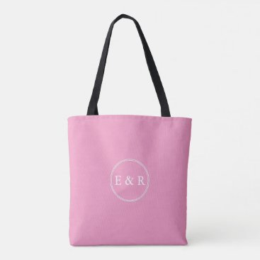 Beach Themed Bright Chalky Pastel Magenta Wedding Party Gifts Tote Bag