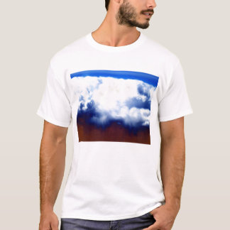 Bright Chaotic Clouds and Blue&Maroon Sky by KLM T-Shirt