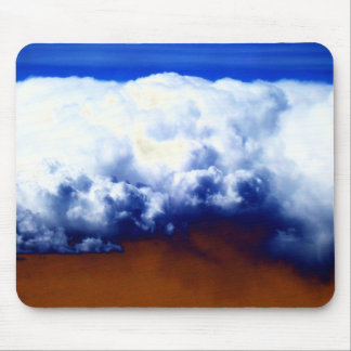 Bright Chaotic Cumulus and Blue&Tea Colored Sky by Mouse Mat