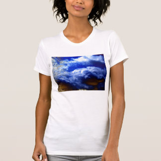 Bright Chaotic Cumulus Clouds and Electric Branche T-Shirt