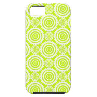 Bright Chartreuse Day Glow Geometric Pattern iPhone SE/5/5s Case