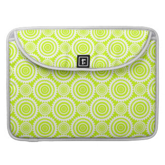 Bright Chartreuse Day Glow Geometric Pattern Sleeves For MacBooks