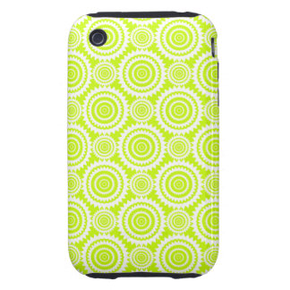 Bright Chartreuse Day Glow Geometric Pattern Tough iPhone 3 Case