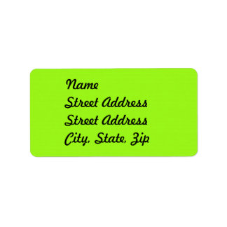 Bright Chartreuse Green Address Sticker