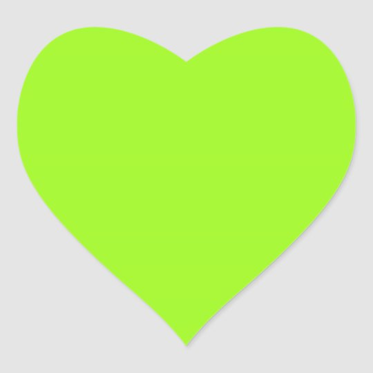 Bright Chartreuse Green Heart Sticker