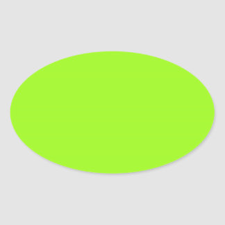Bright Chartreuse Green Oval Sticker