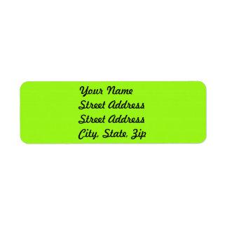 Bright Chartreuse Green Return Address Sticker Custom Return Address Labels