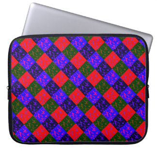 Bright Checkerboard Camouflage Laptop Sleeve
