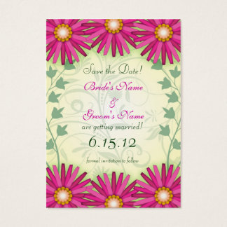 Bright Cheerful Flowers Save the Date Cards