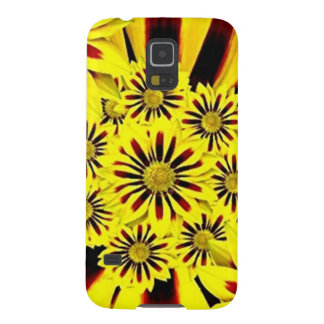 Bright Cheerful Summer Yellow Floral Collage Case For Galaxy S5