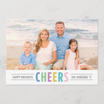 Bright Cheers | Happy Holidays Photo Holiday Card