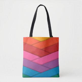 BRIGHT, Cheery, Rainbow-Handbag-Tote Tote Bag