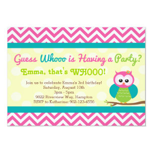 Owl Birthday Invitations Announcements Zazzle